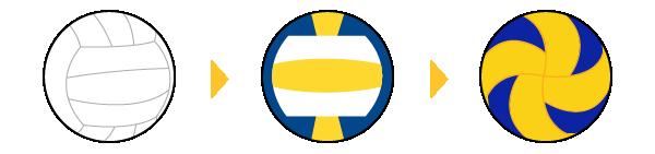 バレーボールのデザインの変遷